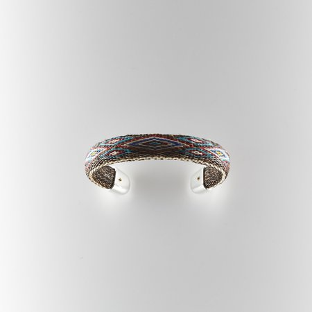 Chamula Bendable Cuff - Brown/Red/Teal