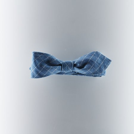 The Hillside Bow Tie - Selvedge Check Indigo/White