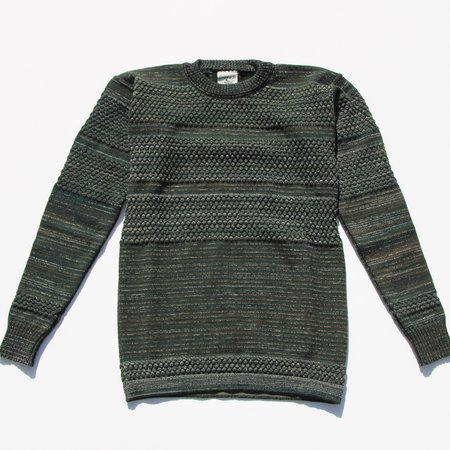 SNS Herning Fisherman Crew Neck Sweater - Forest Mix