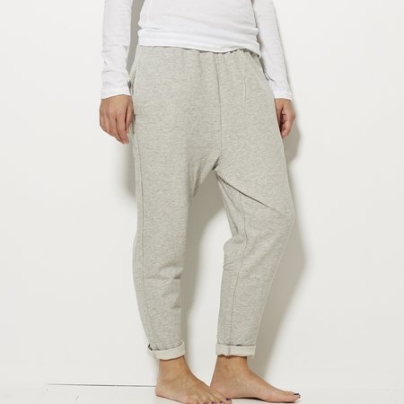 Demy Lee French Terry Sweatpant - Heather Grey