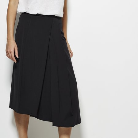 Tibi Jersey Draped Skirt - Black