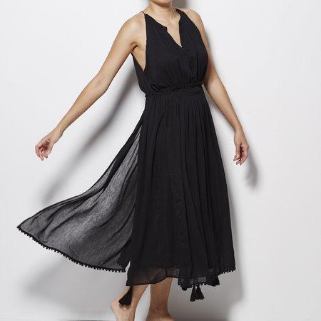 Apiece Apart Lippard Dress with Tassels - Black