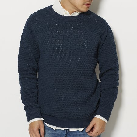 SNS Herning Mediation Crew Neck Sweater - NAVY