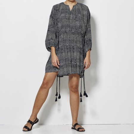 Apiece Apart Puebla Short Wabi Dress - Earth Wave Print