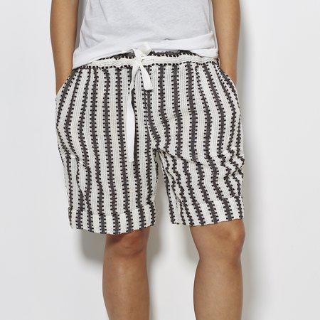 Lemlem Shorts - Black/Ivory