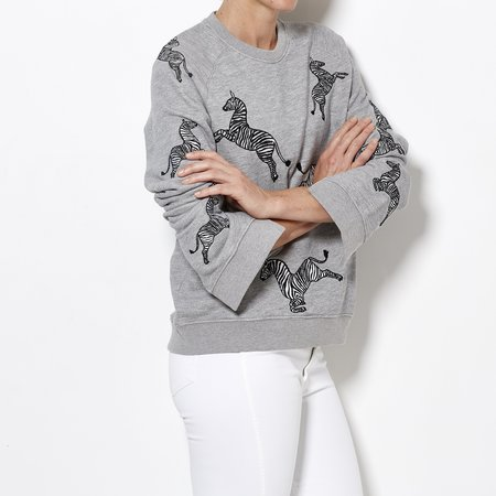 Zoe Karssen Zebra All Over Sweater - Grey