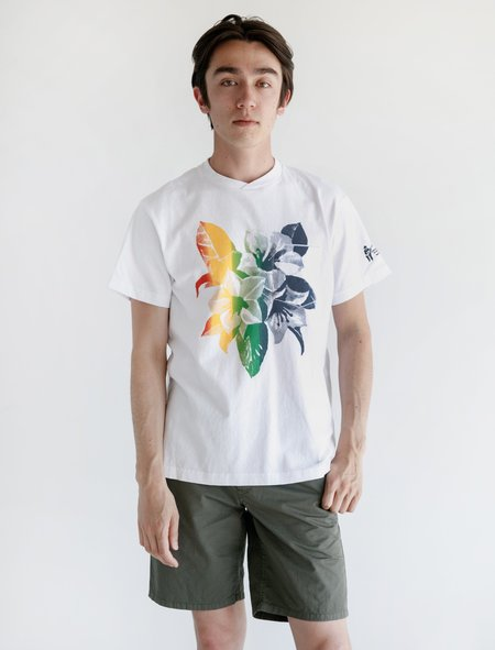 Engineered Garments Printed T-Shirt - White/Multi Floral