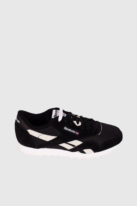 Reebok Classic Nylon FBT Sneakers - Black / White / Blue Electric