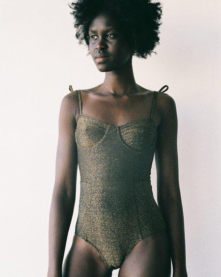 Lonely Swim Doris Swimsuit - Black Sparkle