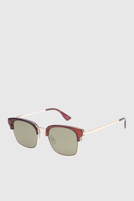 Unisex Le Specs Katoch sunglasses - Hazel/Khaki Phantom Mirror