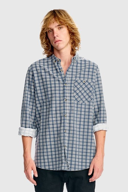 Rollas Tradie Check Shirt - Badseed Blue