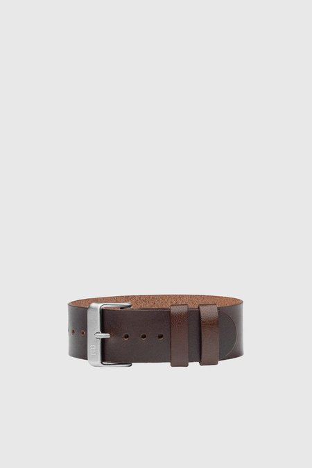 TID Watches Leather Wristband - Walnut/Steel