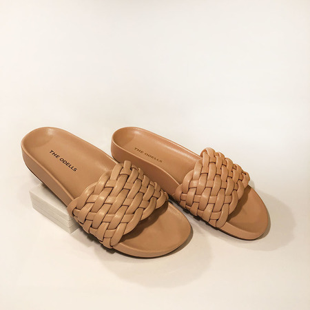 The ODELLS Braided Slides - Nude