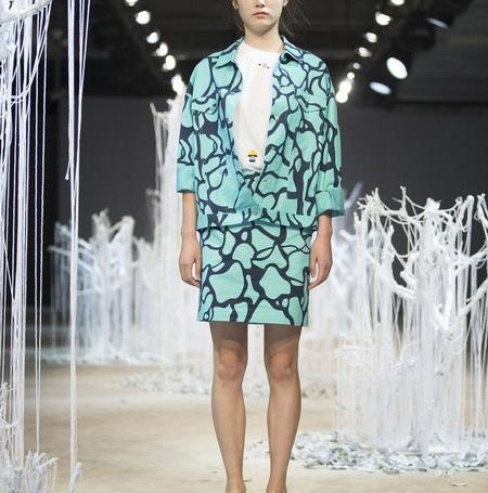Cynthia & Xiao Jacket - Turquoise Water Print