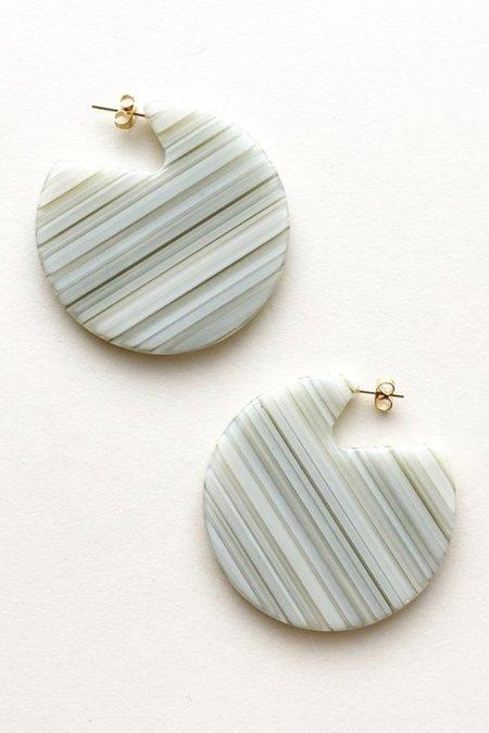 Machete Clare Earrings - Vert Stripe