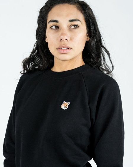 Maison Kitsune Fox Head Patch Sweatshirt - Black