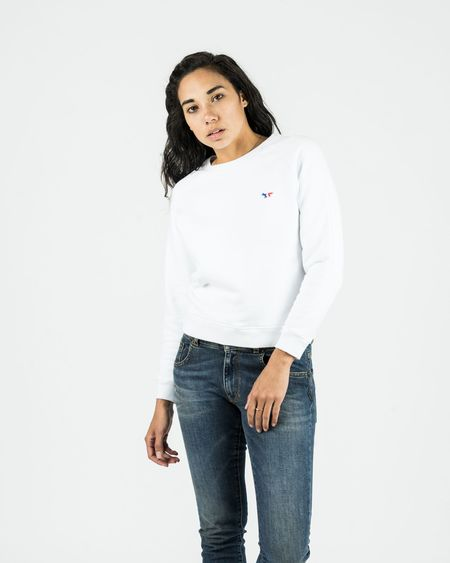 Maison Kitsune Tricolor Fox Sweatshirt - White