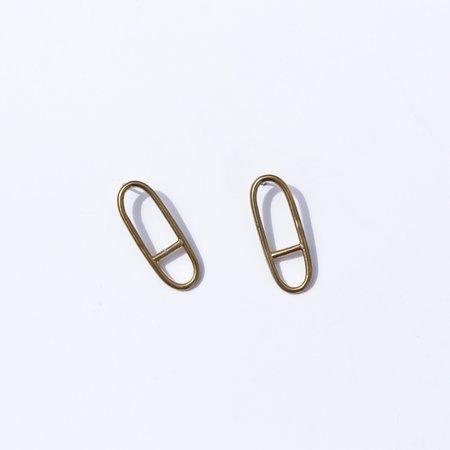 Seaworthy Horizon Earrings - Brass