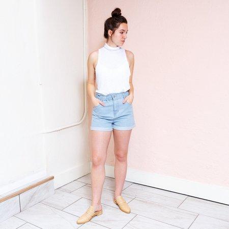 Honey Punch Light Denim Shorts
