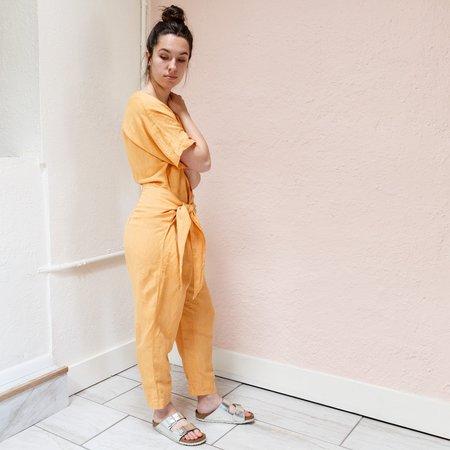 Free People Shining Sun Pantsuit - Orange Coast