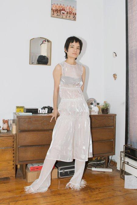 Calvin Luo Sheer Rusch Dress