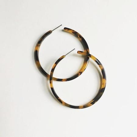 Machete Limited Edition Flat Edge Hoops -Tortoise