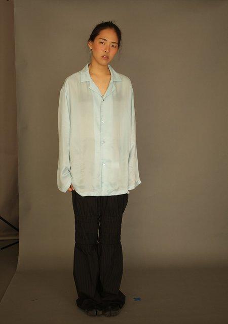 Unisex DANSHAN Silk Pajama Shirt - Sky Blue