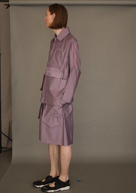 unisex PRONOUNCE Purple Pocket Jacket
