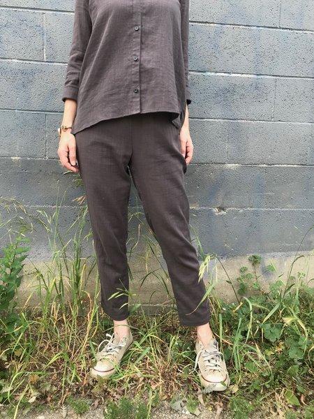 wrk-shp Cotton Slim Pant - Mud Grey