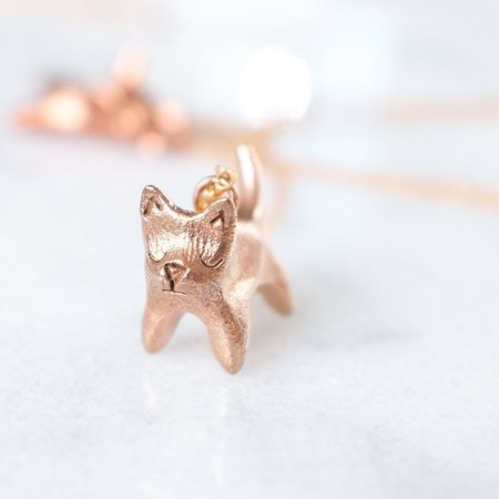 Dawning Collective Cat Necklace - Bronze/Brass