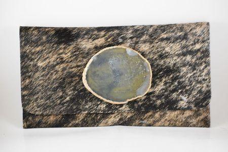 Krava Haircalf with Neutral Stone Clutch - Neutral