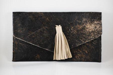Krava Gold Tassel Front Clutch