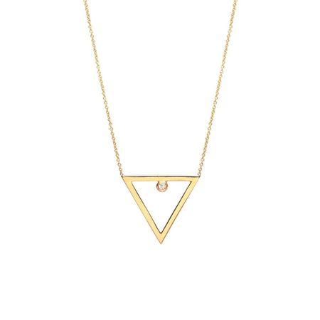 Zoe Chicco Open Triangle Diamond Necklace
