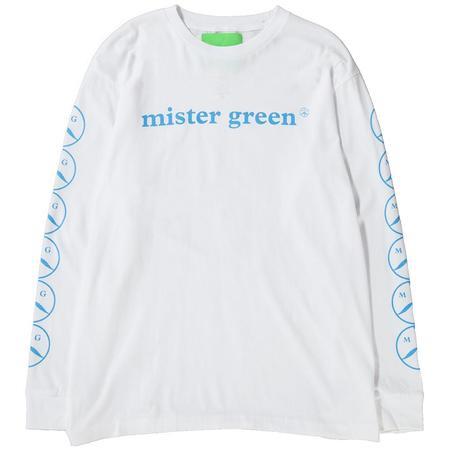 Mister Green Woodmark Long Sleeve T-shirt - White