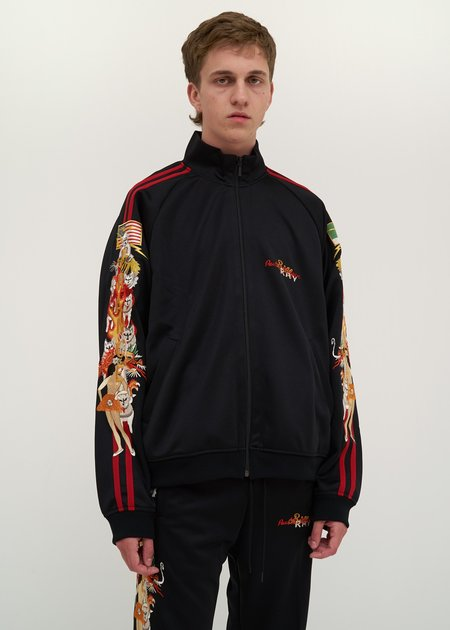 Doublet Chaos Embroidery Track Jacket - black