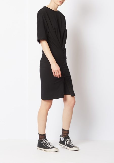 Opening Ceremony Hook and Eye T-shirt Dress - Black