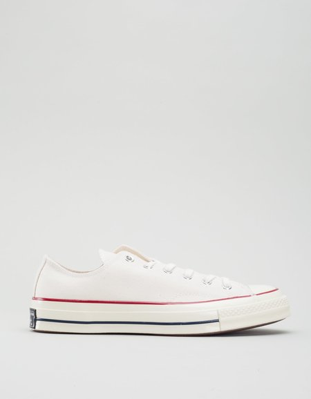 Converse Men's Chuck 70 Low Top - Parchment/Garnet/Egret