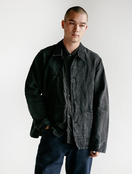 Our Legacy Mens Archive Box Jacket Cotton/Linen - charcoal