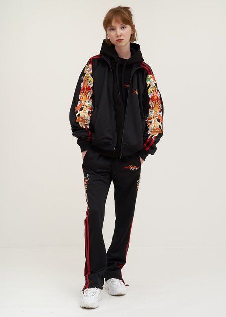 Doublet Chaos Embroidery Hoodie - black