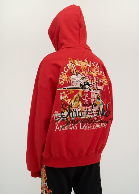 Doublet Chaos Embroidery Hoodie - red
