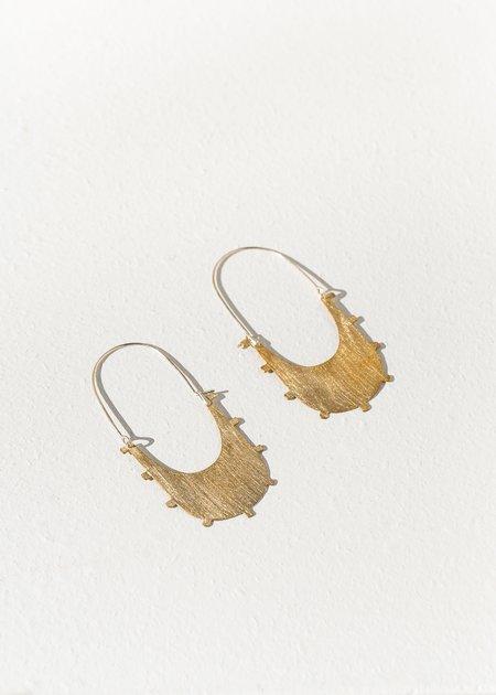 Lumafina Azur Earrings - Brass