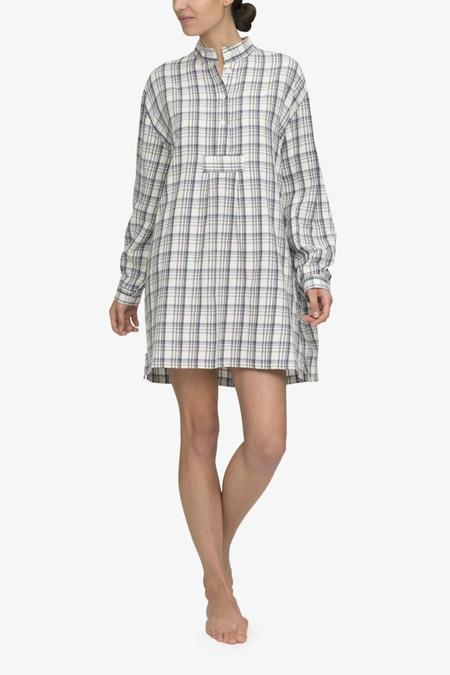 The Sleep Shirt Short Sleep Shirt - Overcast Plaid