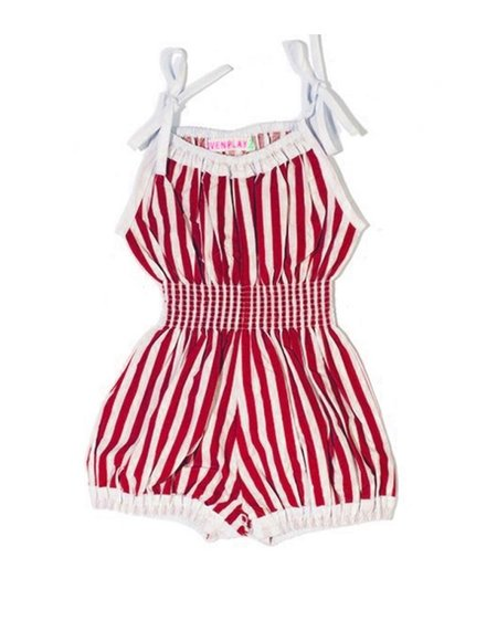 kids Wovenplay Organic Jada Sunsuit - Raspberry Red