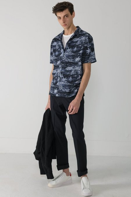 National Standards Camp South Sea Print - Navy