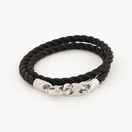 Sailormade Elsewhere Double Rope Bracelet - Black