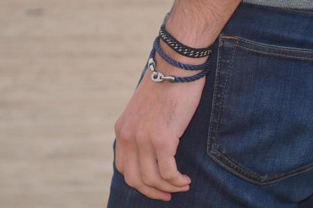 Sailormade Player Rope Bracelet - Jet Black