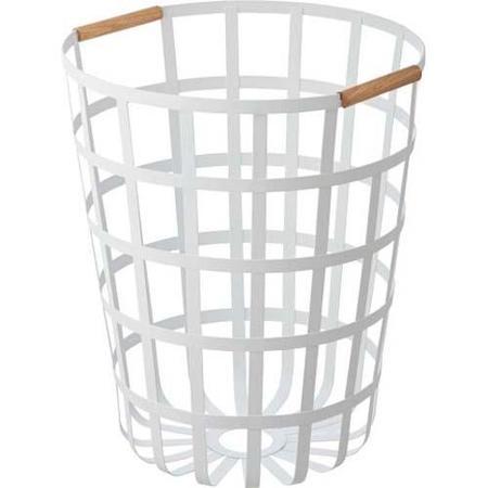 Yamazaki Home Tosca Round Laundry Basket - White