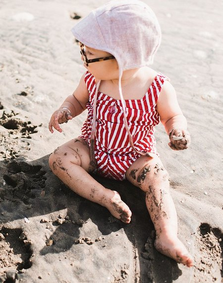 kids Wovenplay Organic Lola Swimsuit - Raspberry Red