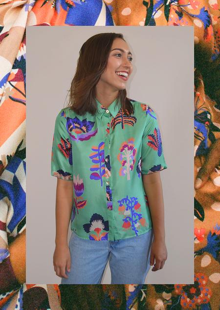 Apalma Botania Button-up Shirt - Zingy Mint