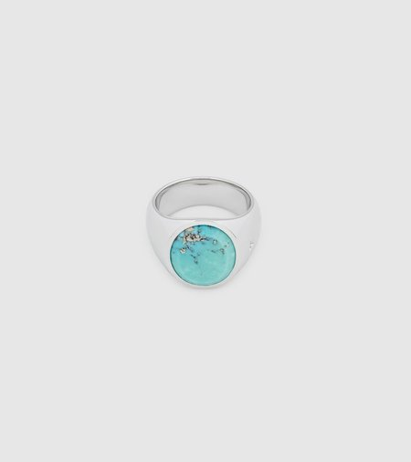 Tom Wood Oval Signet Ring - Turquoise